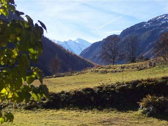 vue du mont blanc depuis vallorcine